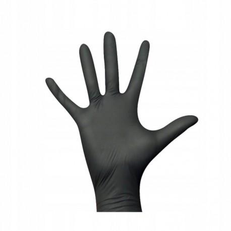 Rękawice ochronne nitrylowe czarne 2szt. - do zastosowania w terrarystyce jak i akwarystyce   Tropical Terra™