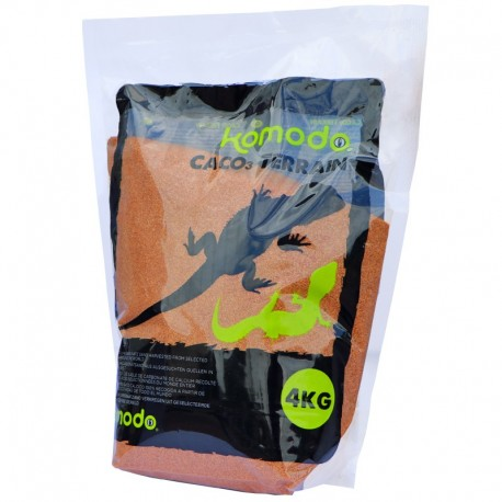 Jadalny piasek dla gadów 4kg Terracota - Komodo CaCo3 Sand | Tropical Terra™