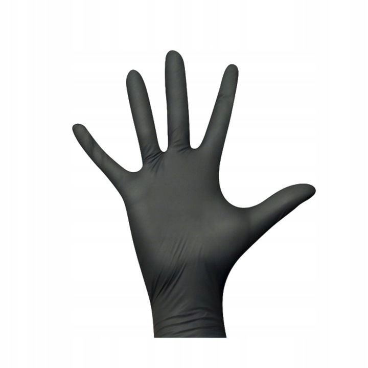 Rękawice ochronne nitrylowe czarne 2szt. - do zastosowania w terrarystyce jak i akwarystyce