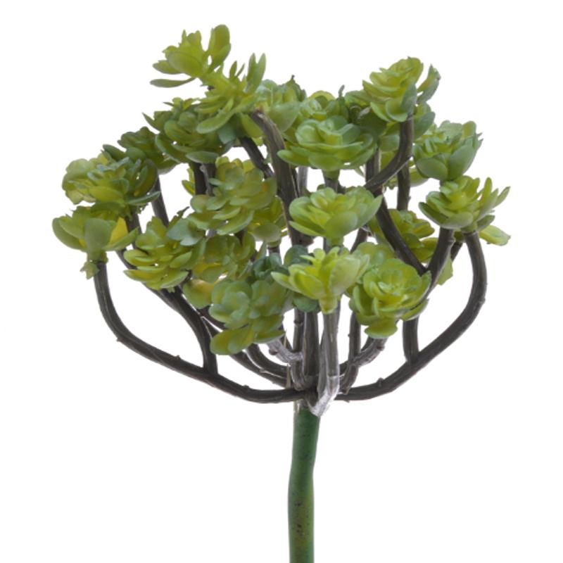 gałązka mini sukulentów - dekoracyjna sztuczna roslina do aranżacji terrarium