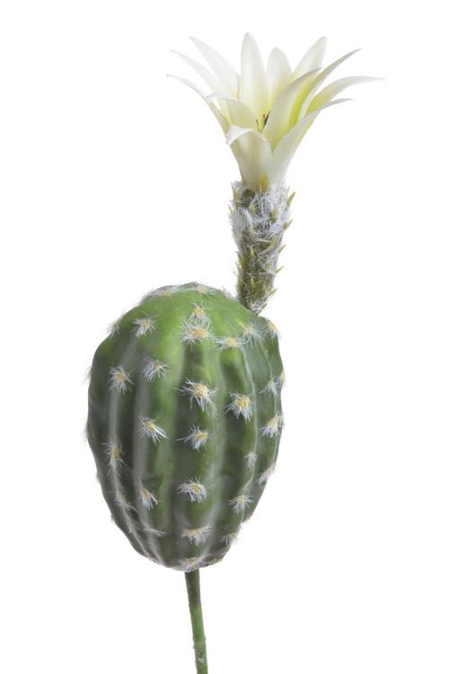 kaktus kwitnący jasny - sztuczna roślina do dekoracji pustynnego terrarium
