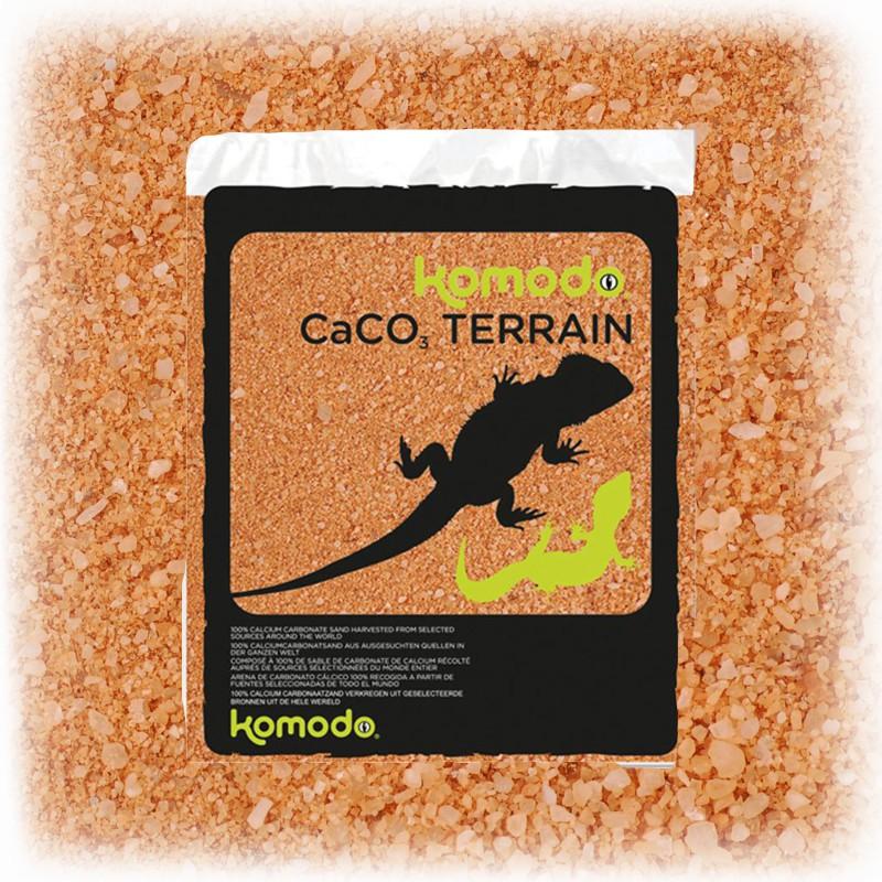 Jadalny piasek dla gadów - Komodo CaCo3 Sand Terracota